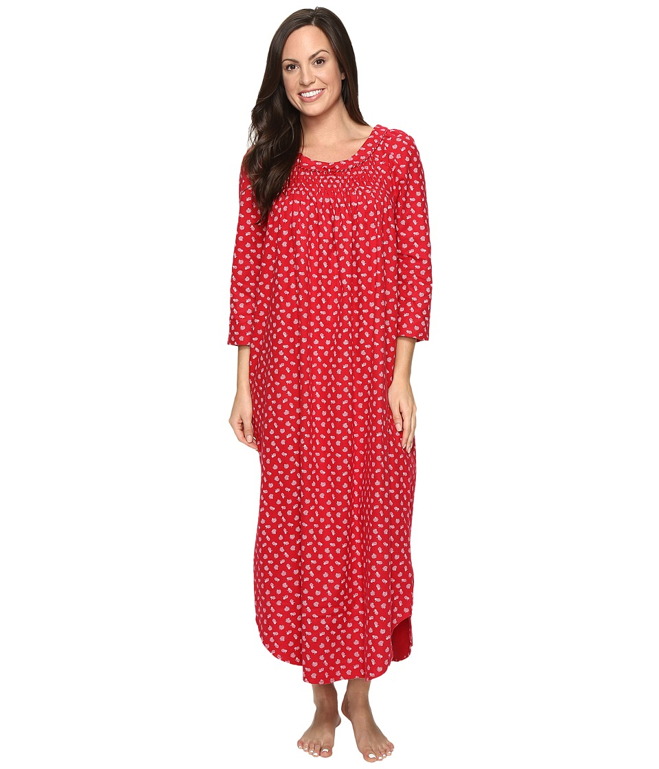 Carole Hochman - Flannel Long Sleeve Long Gown (Falling Pinecones) Women's Pajama