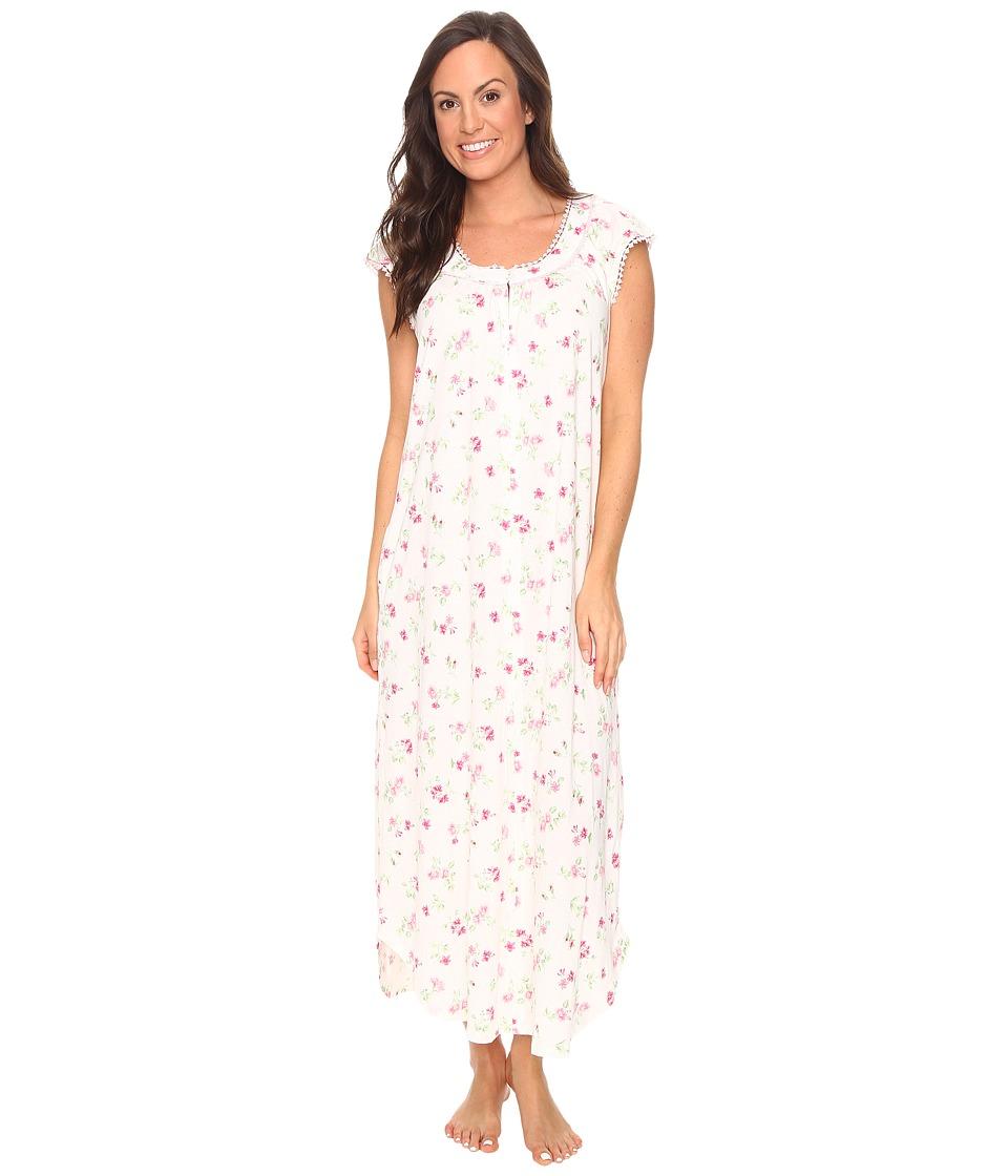 Carole Hochman - Flutter Sleeve Long Gown (Holiday Bouquet Twin) Women's Pajama