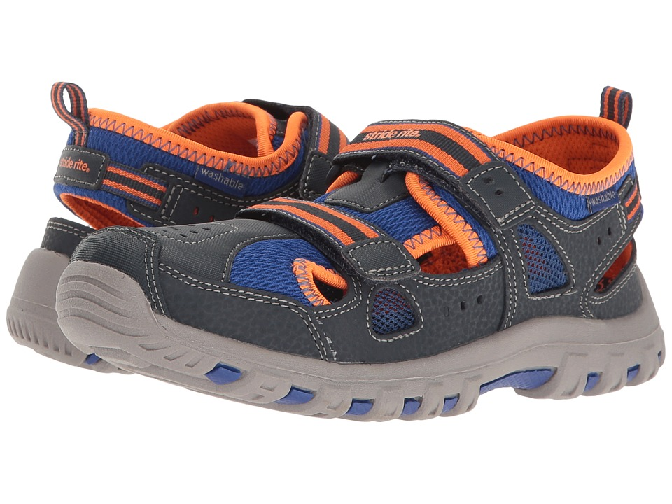Stride Rite - Made 2 Play Thatcher (Toddler/Little Kid) (Navy/Orange) Boy's Shoes