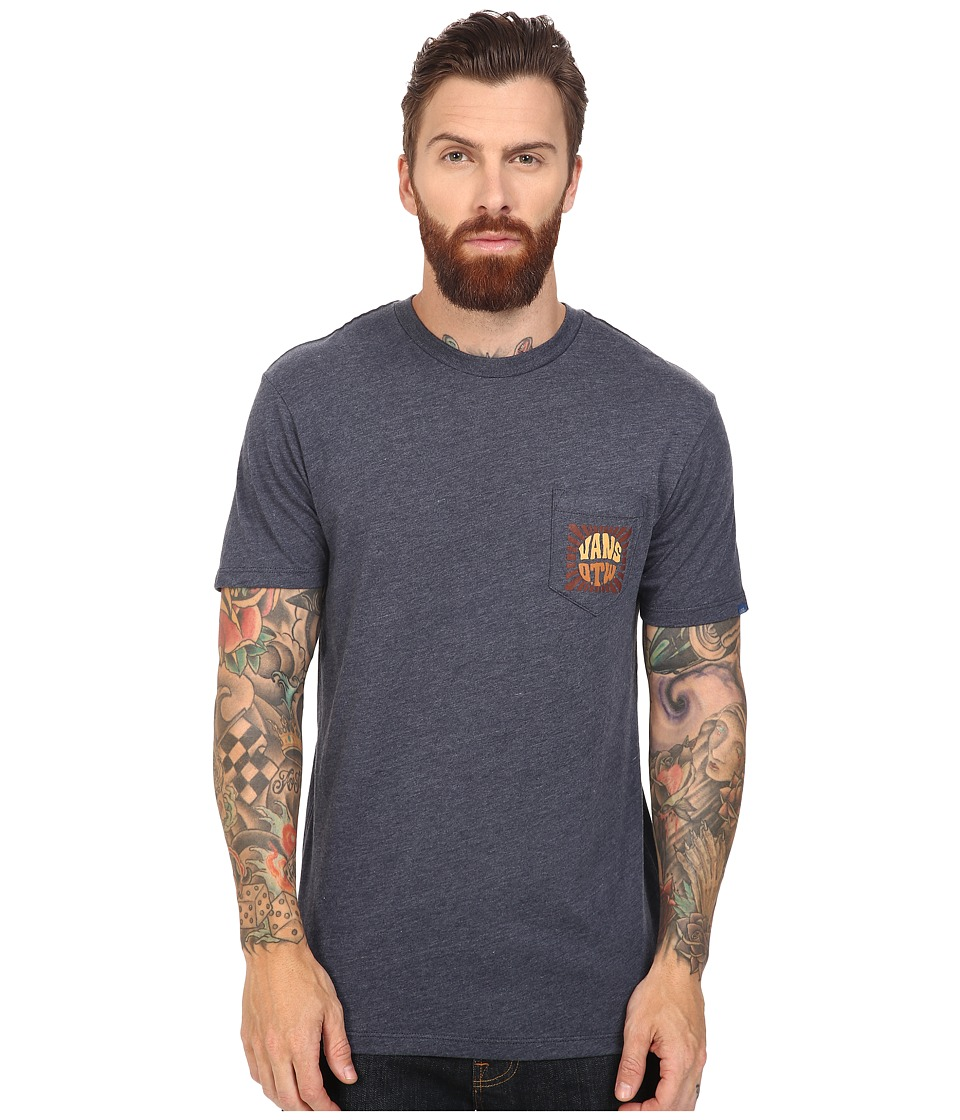 Vans - Beamed Pocket Tee (Heather Olive) Men's T Shirt