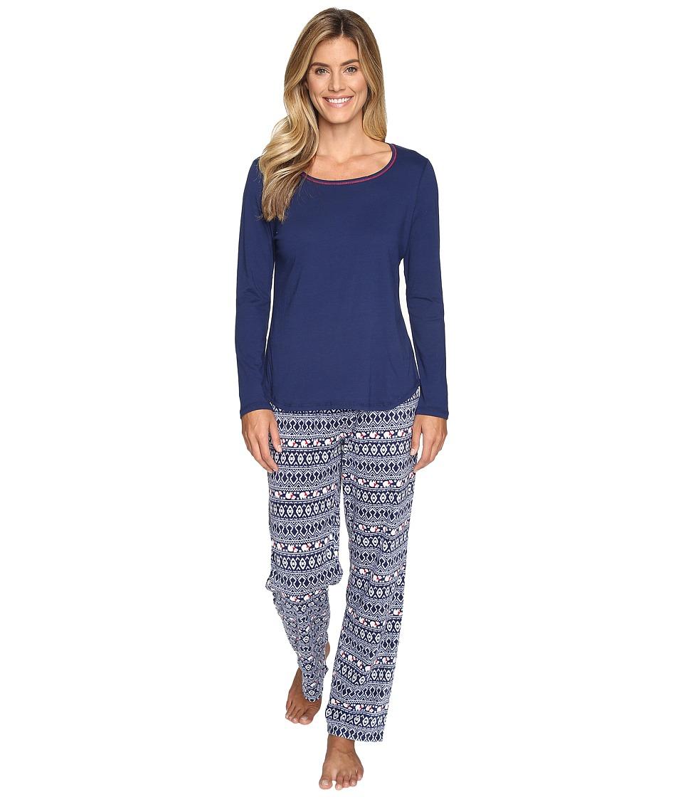 Jockey - Microfleece PJ Set (Polar Bear Fair Isle) Women's Pajama Sets