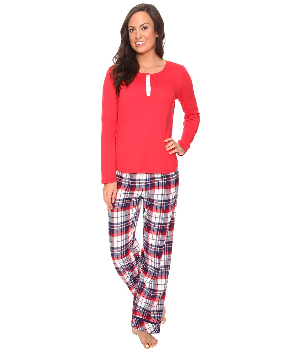 Jockey - PJ Set with Flannel Plaid Pants (Holiday Tartan) Women's Pajama Sets