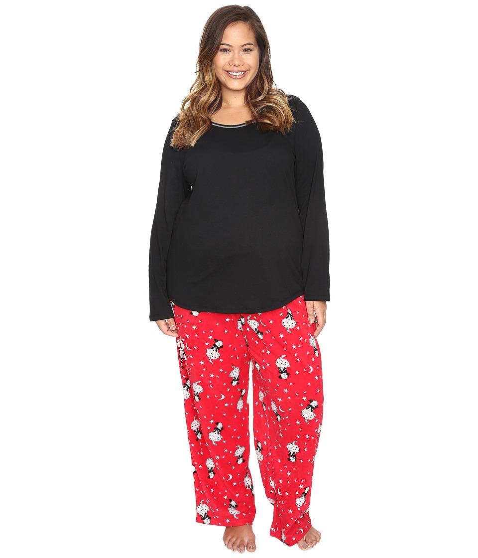 Jockey - Plus Size Microfleece PJ Set (See Spot Run) Women's Pajama Sets