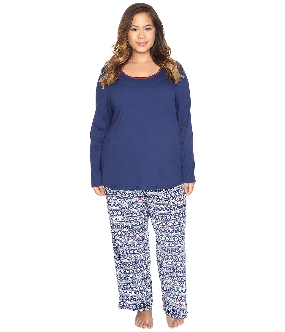Jockey - Plus Size Microfleece PJ Set (Polar Bear Fair Isle) Women's Pajama Sets