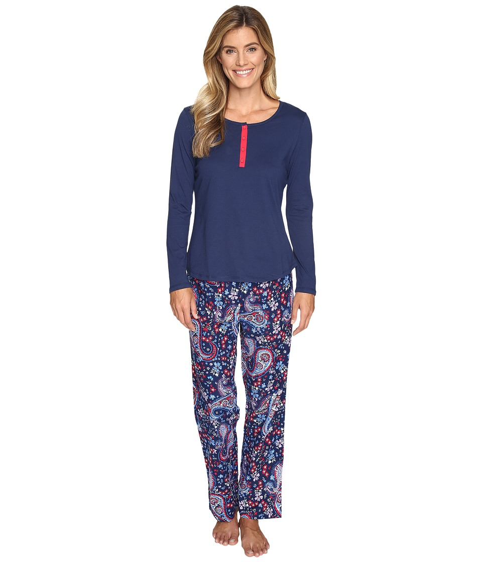Jockey - Jockey - PJ Set with Flannel Pants (Holiday Paisley) Women's Pajama Sets