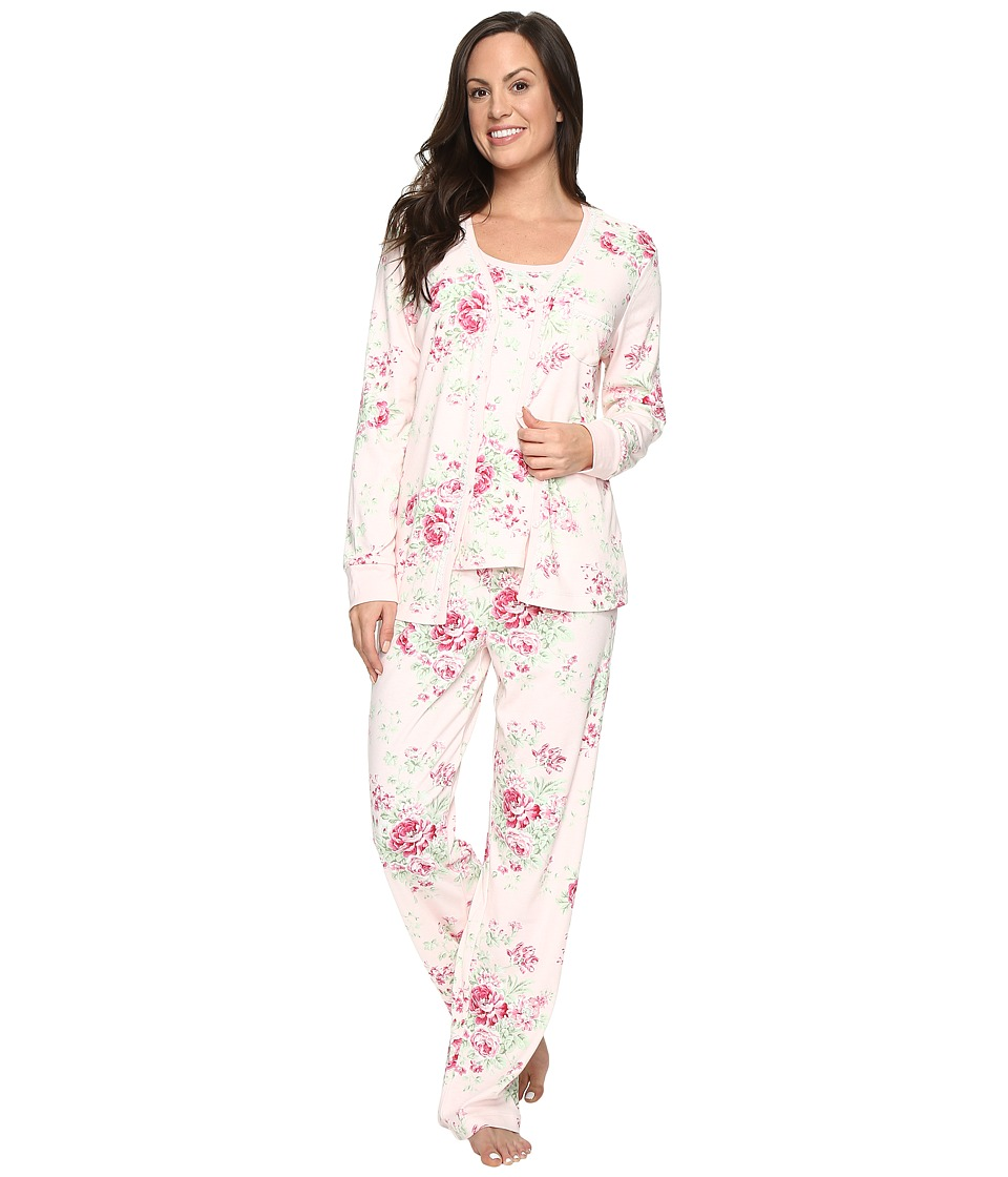Carole Hochman - Three-Piece Pajama Set (Holiday Bouquet) Women's Pajama Sets