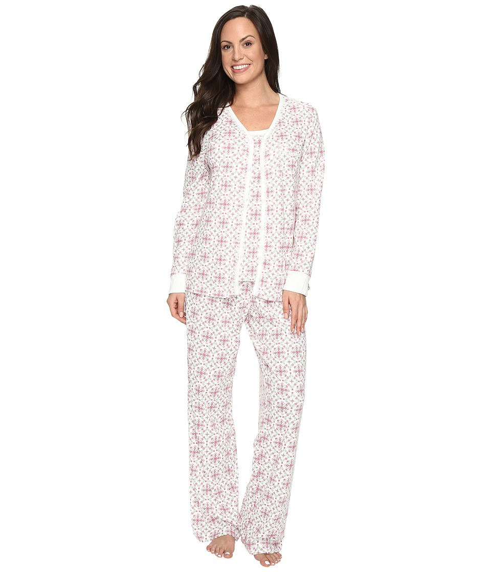 Carole Hochman - Three-Piece Pajama Set (Medallions) Women's Pajama Sets
