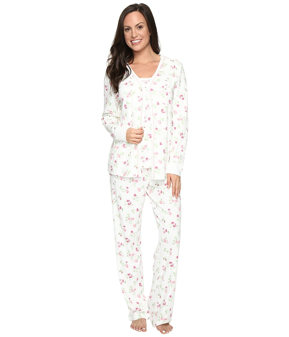 Carole Hochman - Three-Piece Pajama Set (Holiday Bouquet Twin) Women's Pajama Sets