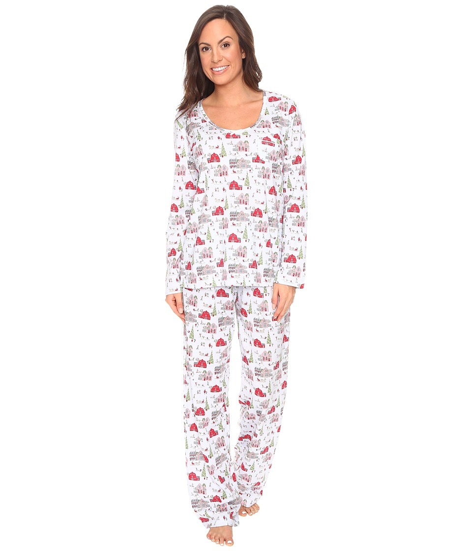 Carole Hochman - Packaged Novelty Print Pajama (Holiday Landscape) Women's Pajama Sets