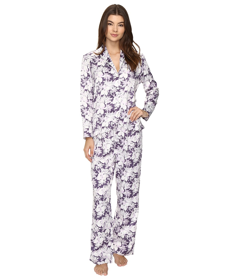 Carole Hochman - Packaged Brush Back Satin Pajama (Floral Garden) Women's Pajama Sets