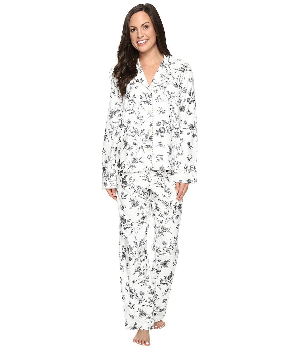 Carole Hochman - Packaged Flannel Pajama (Festive Botanical Toile) Women's Pajama Sets