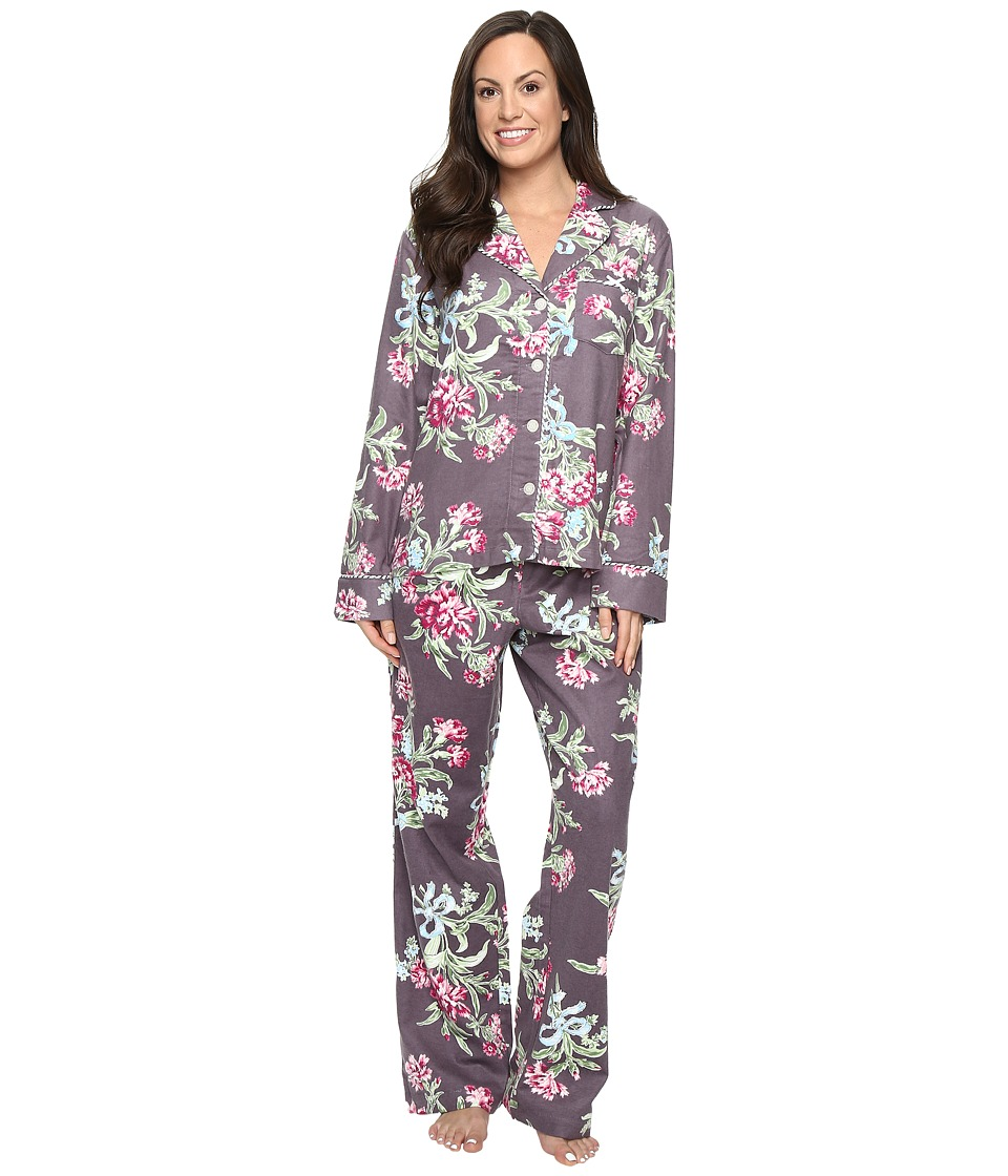 Carole Hochman - Packaged Flannel Pajama (Ribonned Carnations) Women's Pajama Sets