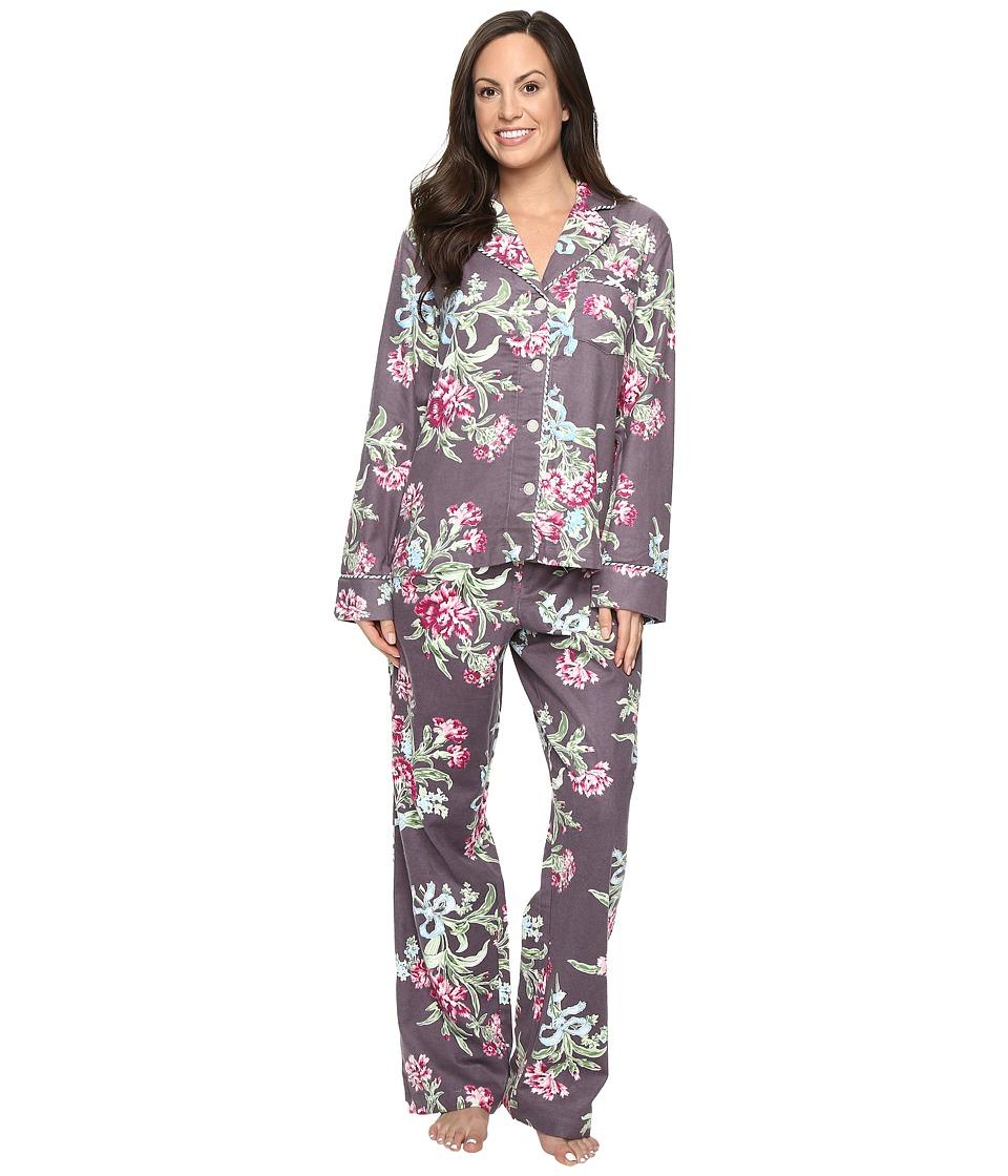 Carole Hochman - Packaged Flannel Pajama (Ribonned Carnations) Women's Pajama Sets