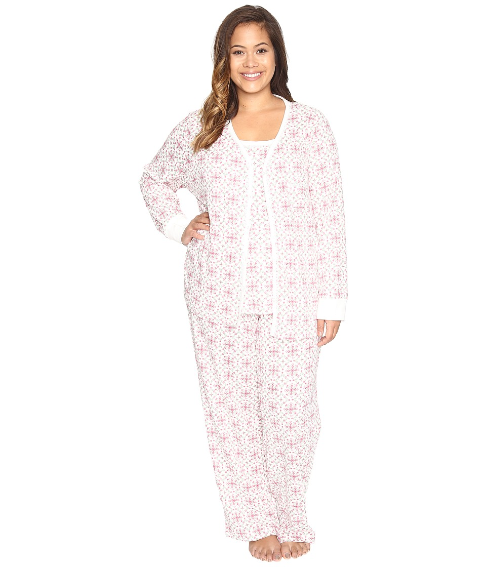 Carole Hochman - Plus Size Three-Piece Pajama Set (Medallions) Women's Pajama Sets
