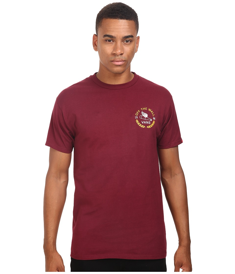 Vans - Brewed Tee (Burgundy) Men's T Shirt