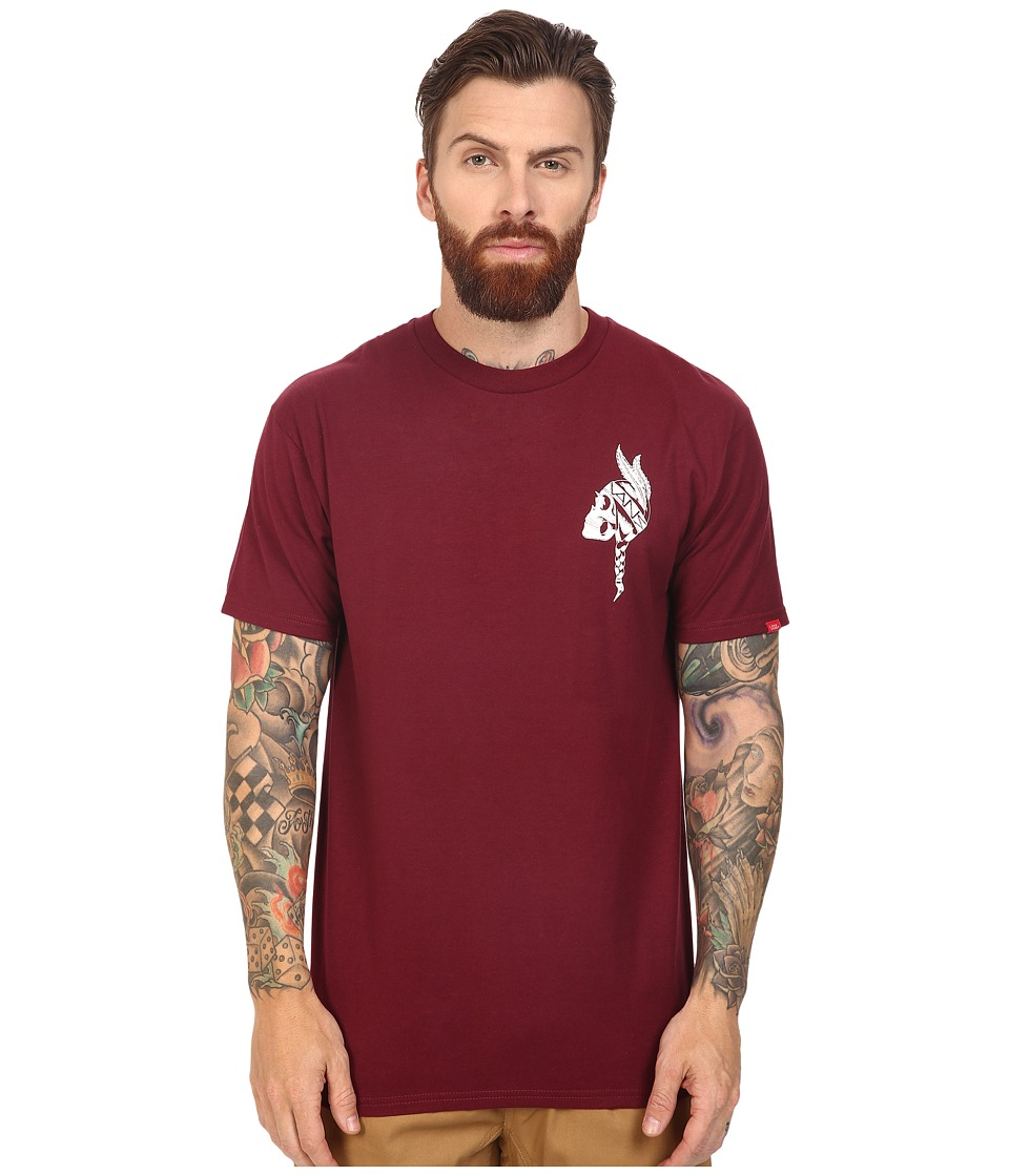 Vans - Braided Tee (Burgundy) Men's T Shirt