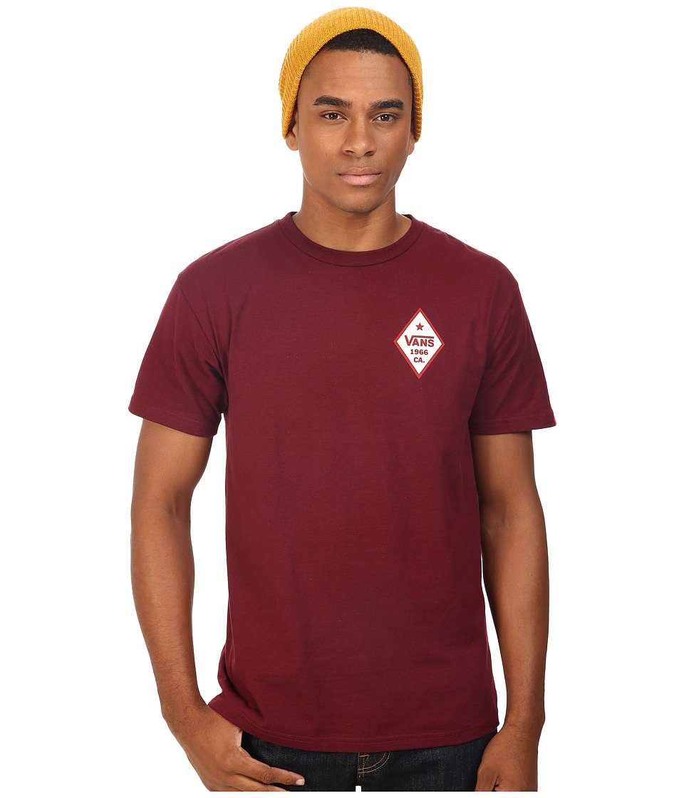 Vans - Yakutat Grizzly Tee (Burgundy) Men's T Shirt