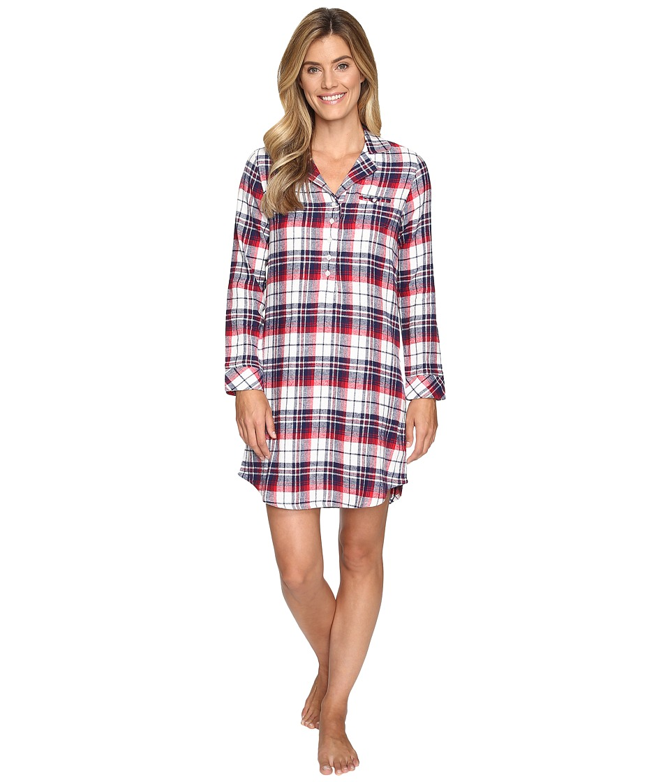 Jockey - Flannel Plaid Sleepshirt (Holiday Tartan) Women's Pajama