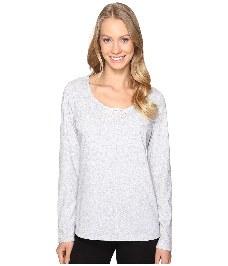 Jockey - Long Sleeve Top (Heather Grey) Women's Pajama