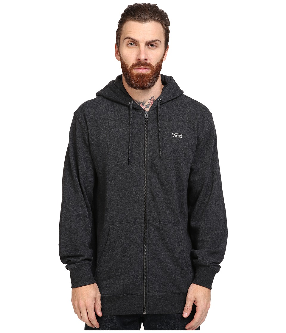 Vans - Core Basics Zip Fleece IV (Black Heather) Men's Fleece