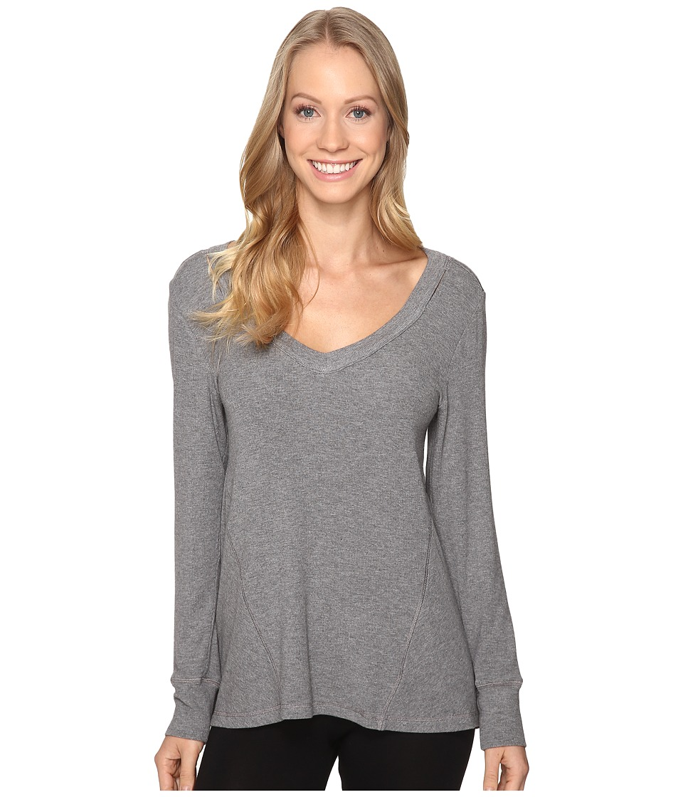 Midnight by Carole Hochman - Lounge Cut Away Top (Grey Heather) Women's Pajama