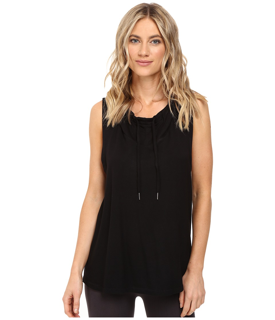 Midnight by Carole Hochman - Lounge Sleeveless Hoodie (Black) Women's Pajama