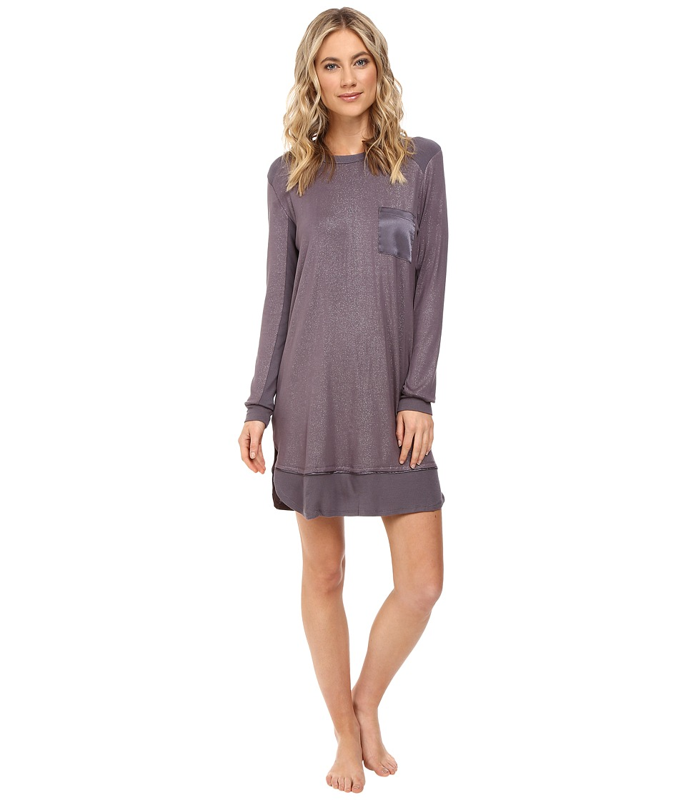 Midnight by Carole Hochman - Packaged Key Item Sleepshirt (Sparkles Silver Mist) Women's Pajama