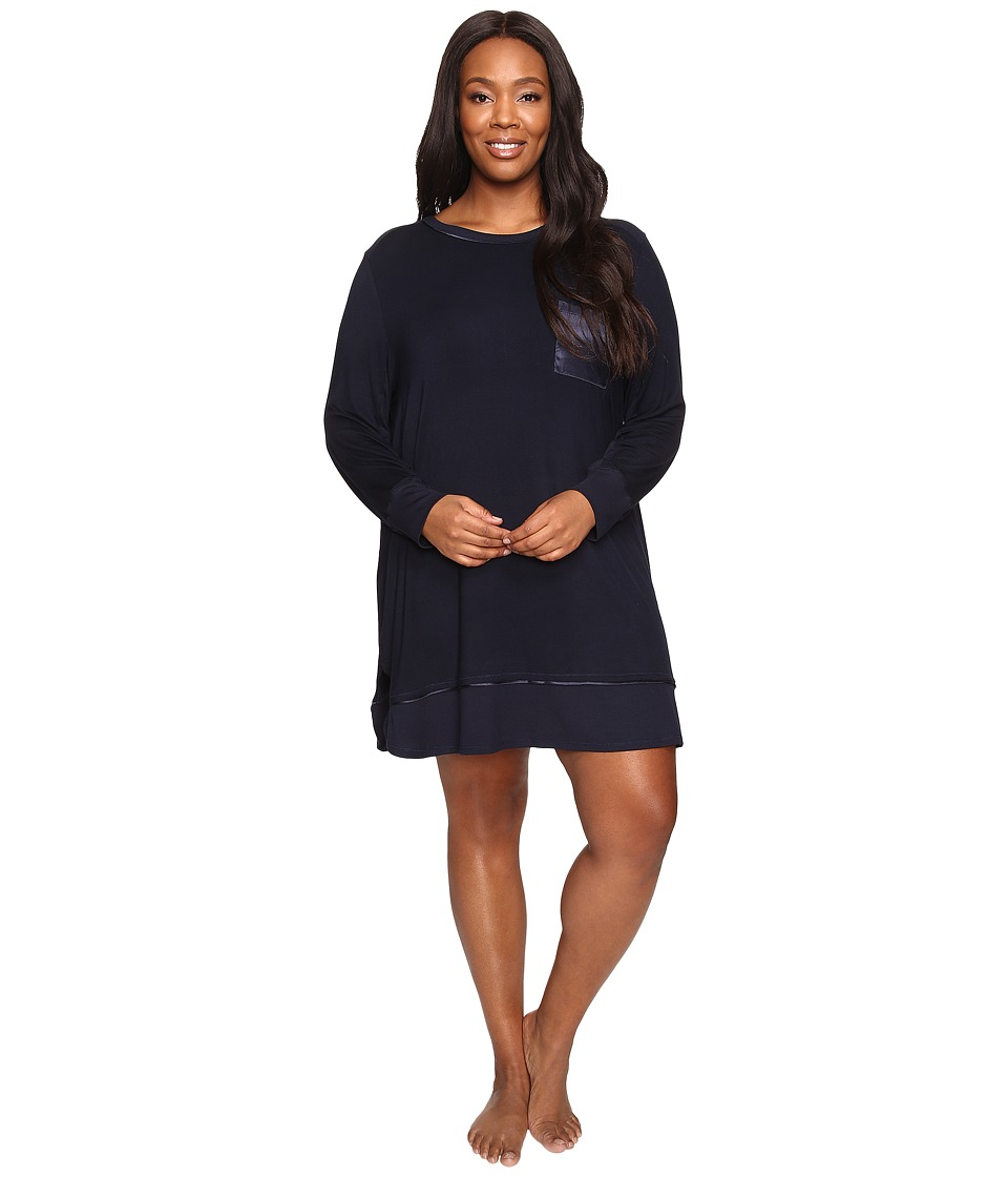 Midnight by Carole Hochman - Plus Size Packaged Key Item Sleepshirt (Midnight) Women's Pajama