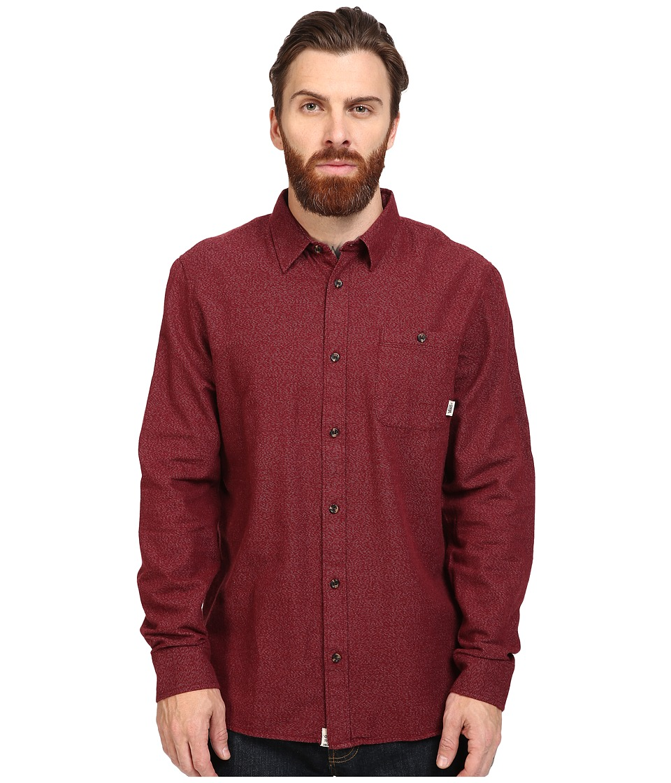 Vans - Cardale Long Sleeve Flannel (Red Dahlia) Men's Clothing