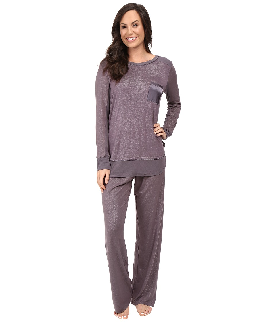 Midnight by Carole Hochman - Packaged Key Item Pajama (Sparkles Silver Mist) Women's Pajama Sets