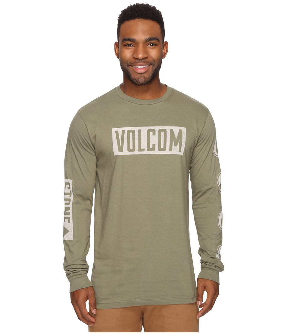 Volcom - Knock Long Sleeve Tee (Vineyard Green) Men's T Shirt