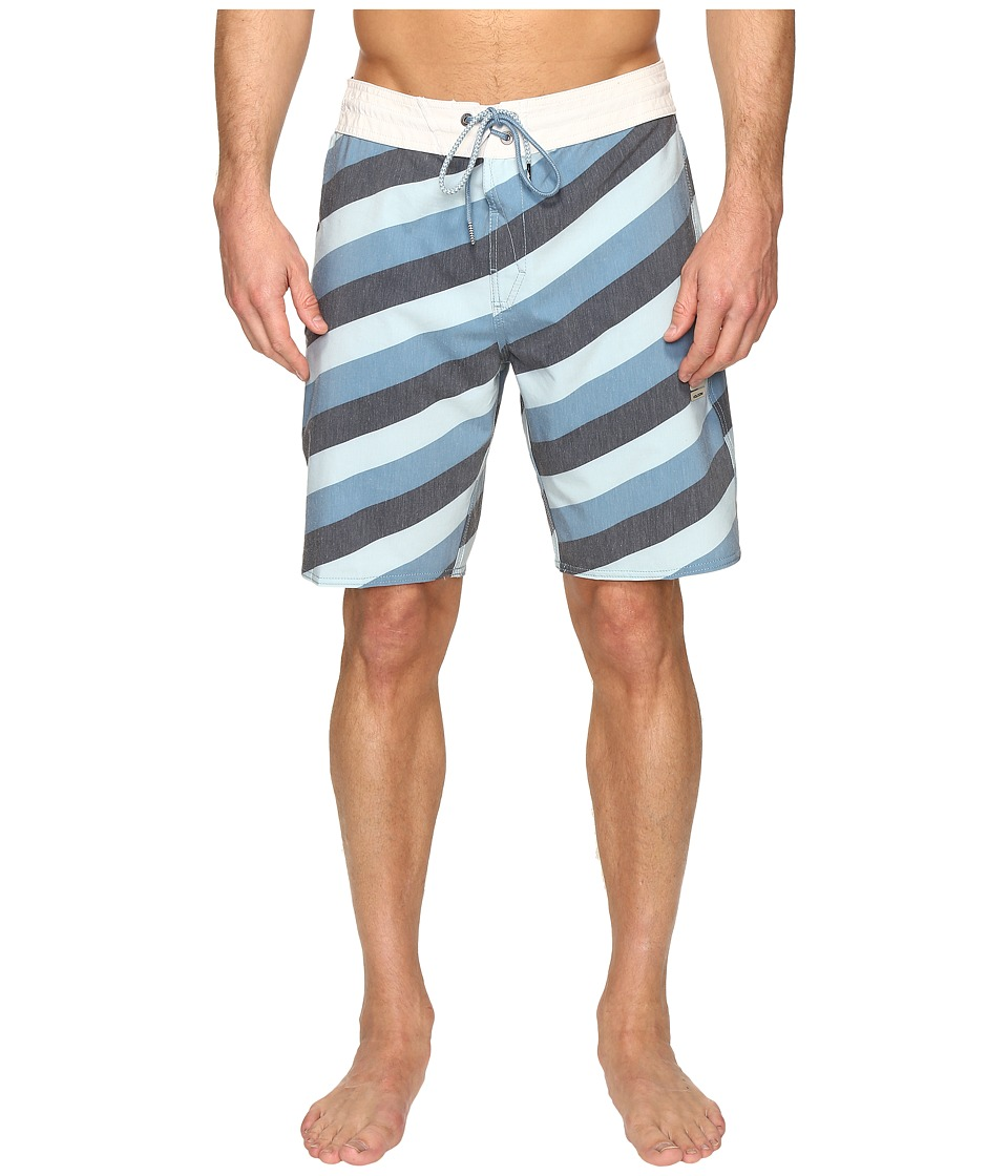 Volcom - Stripey Slinger 19 Boardshorts (Navy) Men's Swimwear