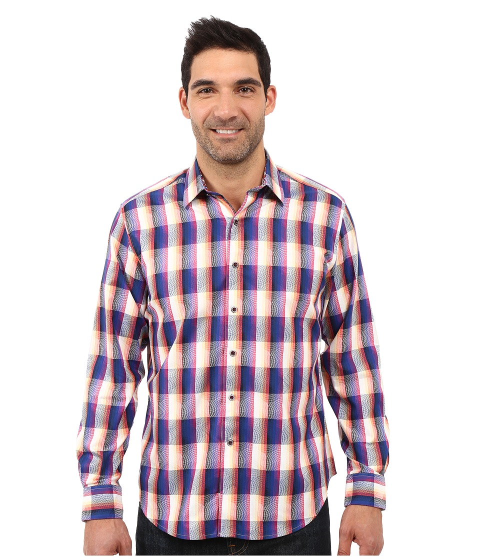 Robert Graham - The Jagger Long Sleeve Shirt (Navy) Men's Short Sleeve Button Up