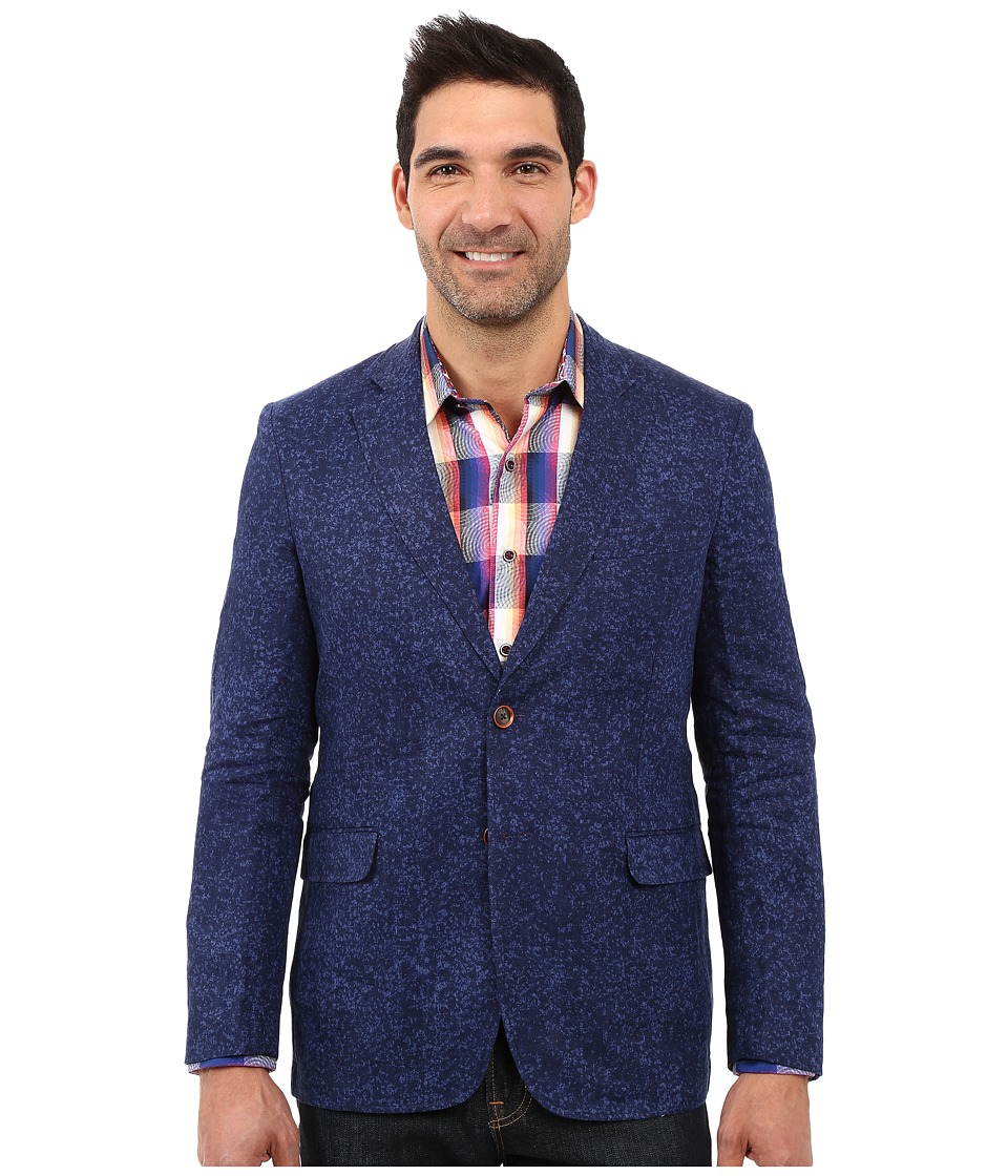Robert Graham - Cajon Pass Woven Sportcoat (Navy) Men's Jacket