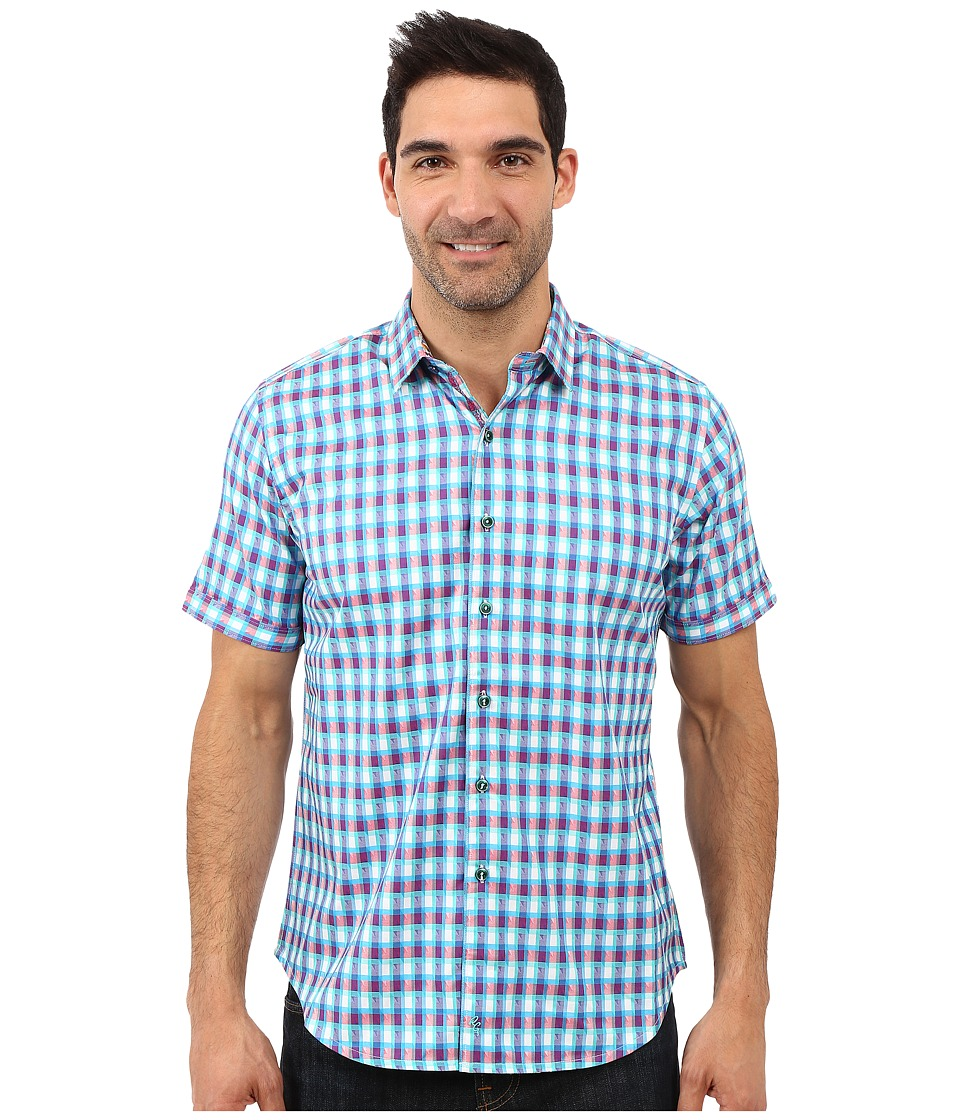 Robert Graham - Randsburg Short Sleeve Woven Shirt (Berry) Men's Short Sleeve Button Up