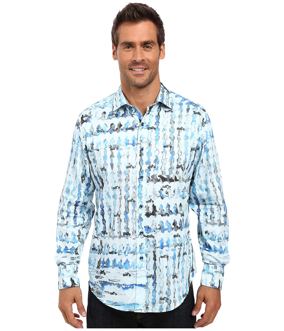 Robert Graham - Shallow Ponds Long Sleeve Woven Shirt (Seaglass) Men's Long Sleeve Button Up