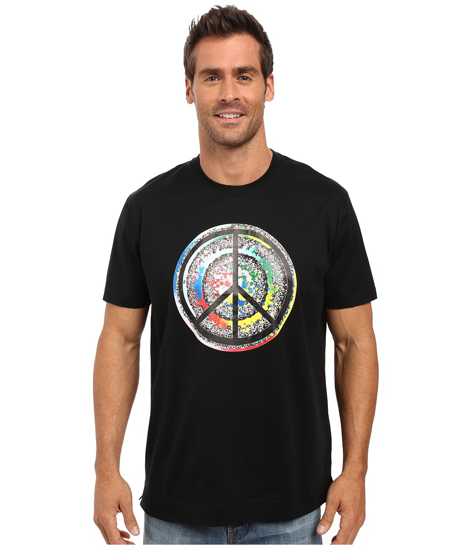 Robert Graham - Peace Short Sleeve Knit T-Shirt (Black) Men's T Shirt