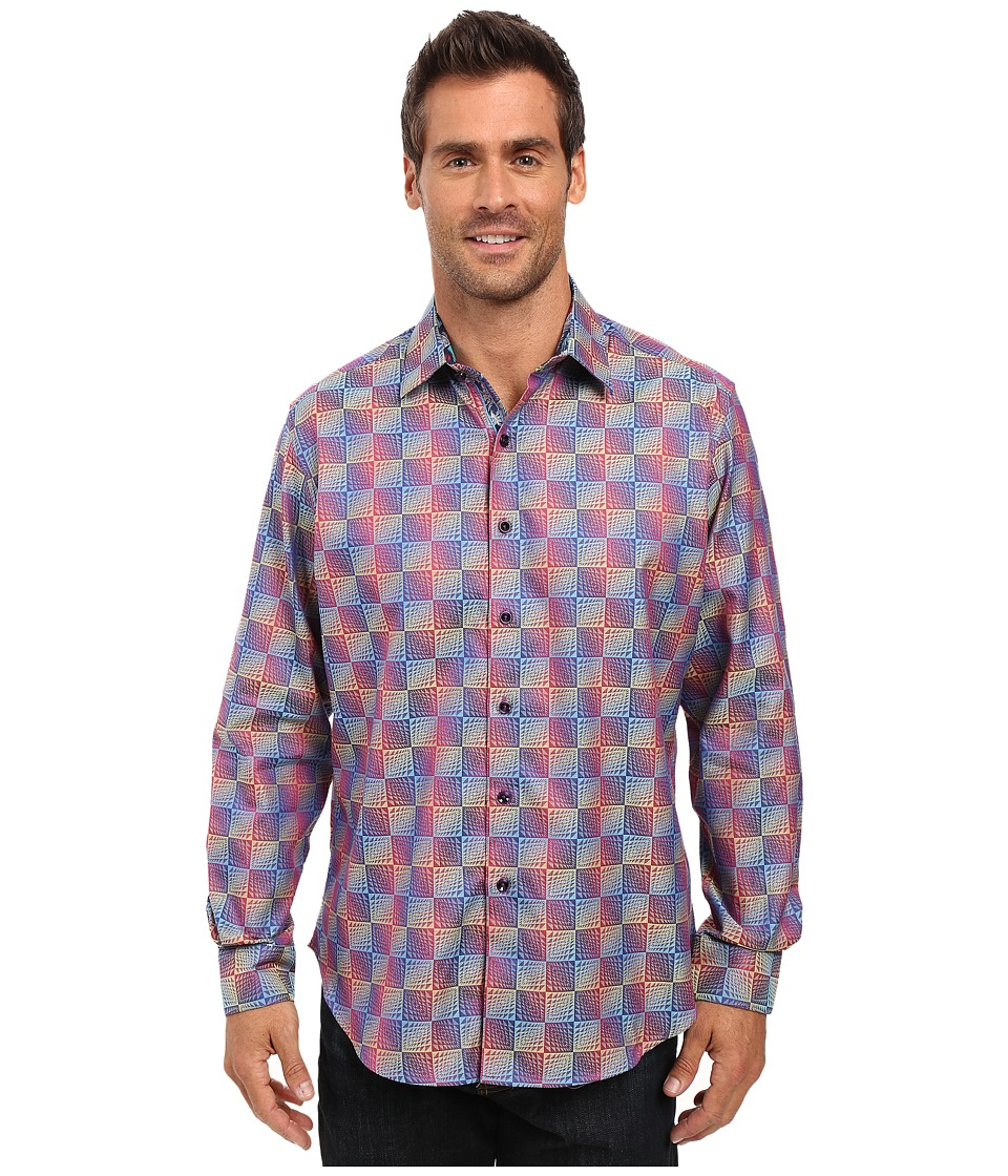 Robert Graham - Salt Pan Long Sleeve Woven Shirt (Wine) Men's Long Sleeve Button Up