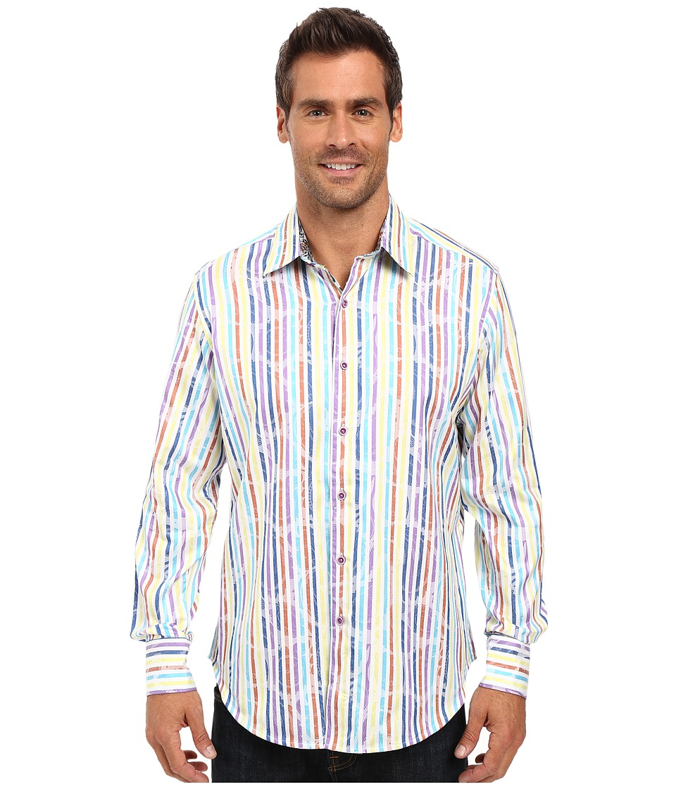 Robert Graham - Laughlin Long Sleeve Woven Shirt (White) Men's Long Sleeve Button Up