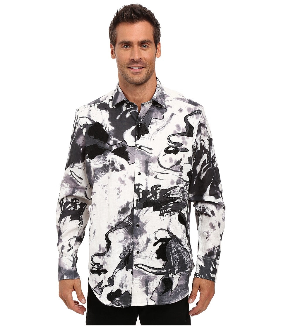 Robert Graham - Black Desert Limited Edition Long Sleeve Woven Shirt (White) Men's Long Sleeve Button Up