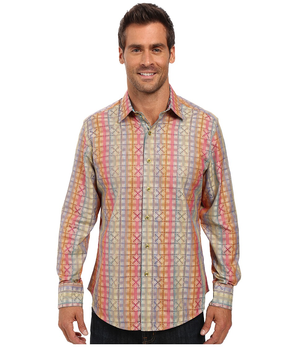 Robert Graham - Calico Rainbow Long Sleeve Woven Shirt (Multi) Men's Long Sleeve Button Up