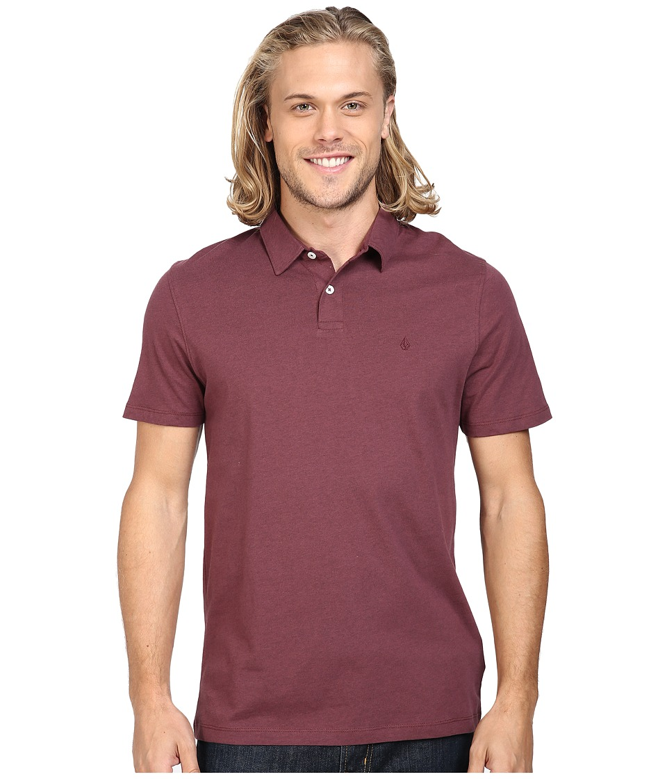 Volcom - Wowzer Polo (Wine) Men's Short Sleeve Knit