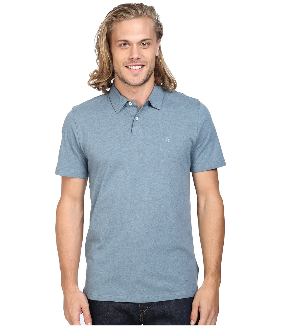 Volcom - Wowzer Polo (Blue Fog) Men's Short Sleeve Knit