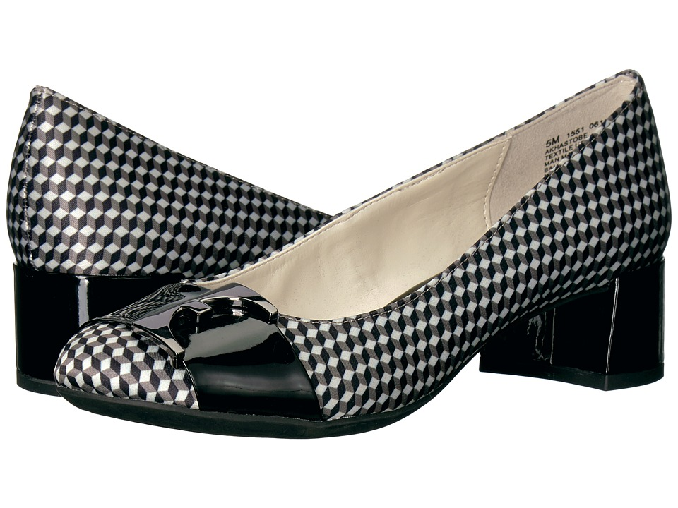 Anne Klein - Hastobe (Black/White Geo Cube Print) Women's Shoes