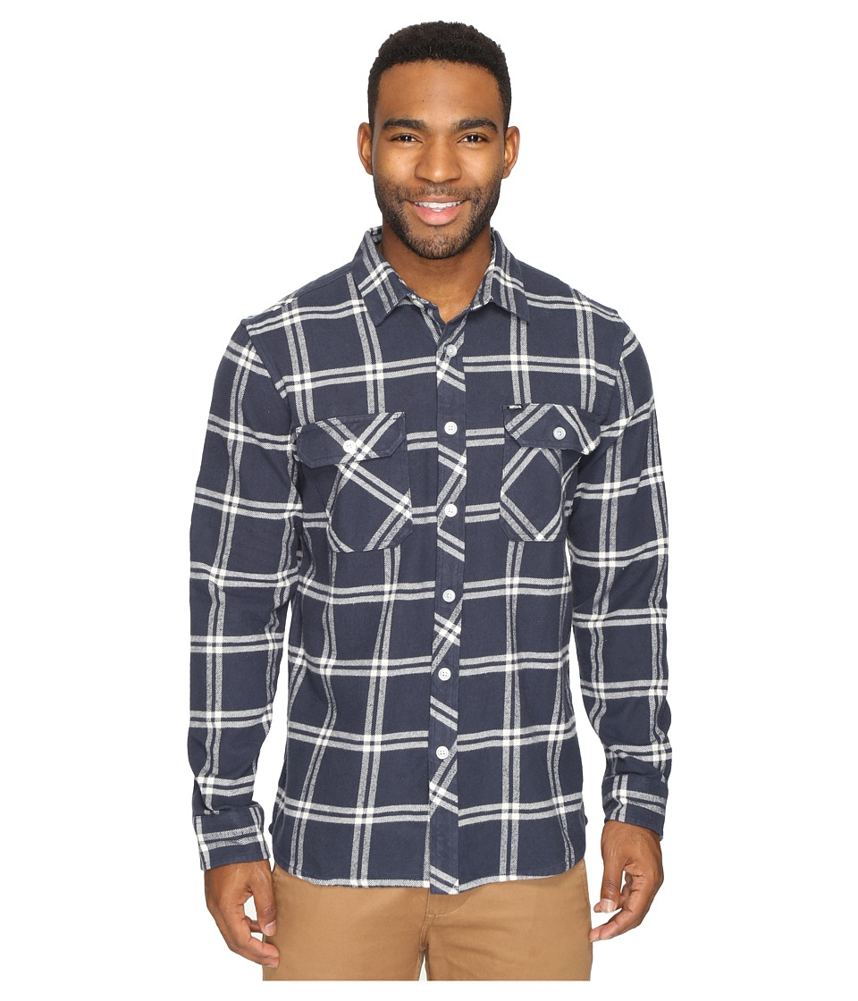 Rip Curl - Marin Long Sleeve Flannel (Navy) Men's Long Sleeve Button Up
