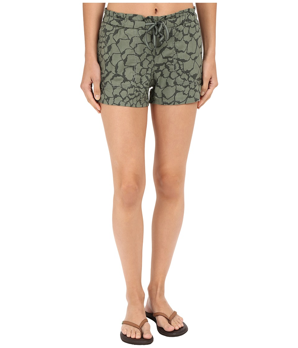 The North Face - Peak 2 Pub Shorts (Laurel Wreath Green Organic Tonal Print) Women's Shorts