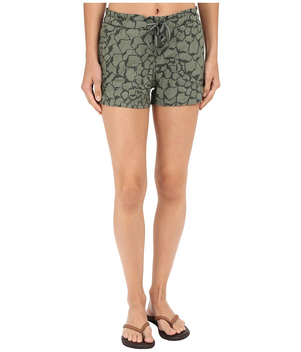 The North Face - Peak 2 Pub Shorts (Laurel Wreath Green Organic Tonal Print) Women's Shorts