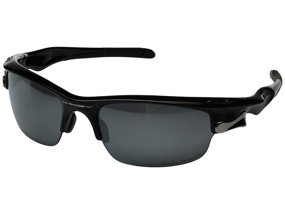 Oakley - Fast Jacket (Polished Black w/ Black Iridium Polarize) Sport Sunglasses