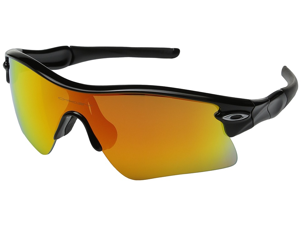 Oakley - Radar Range (Polished Black w/ Fire Iridium) Sport Sunglasses