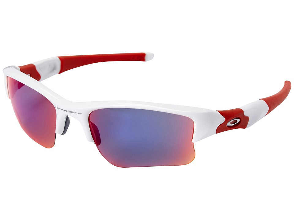 Oakley - Flak Jacket XLJ (Polished White w/ Red Iridium) Sport Sunglasses